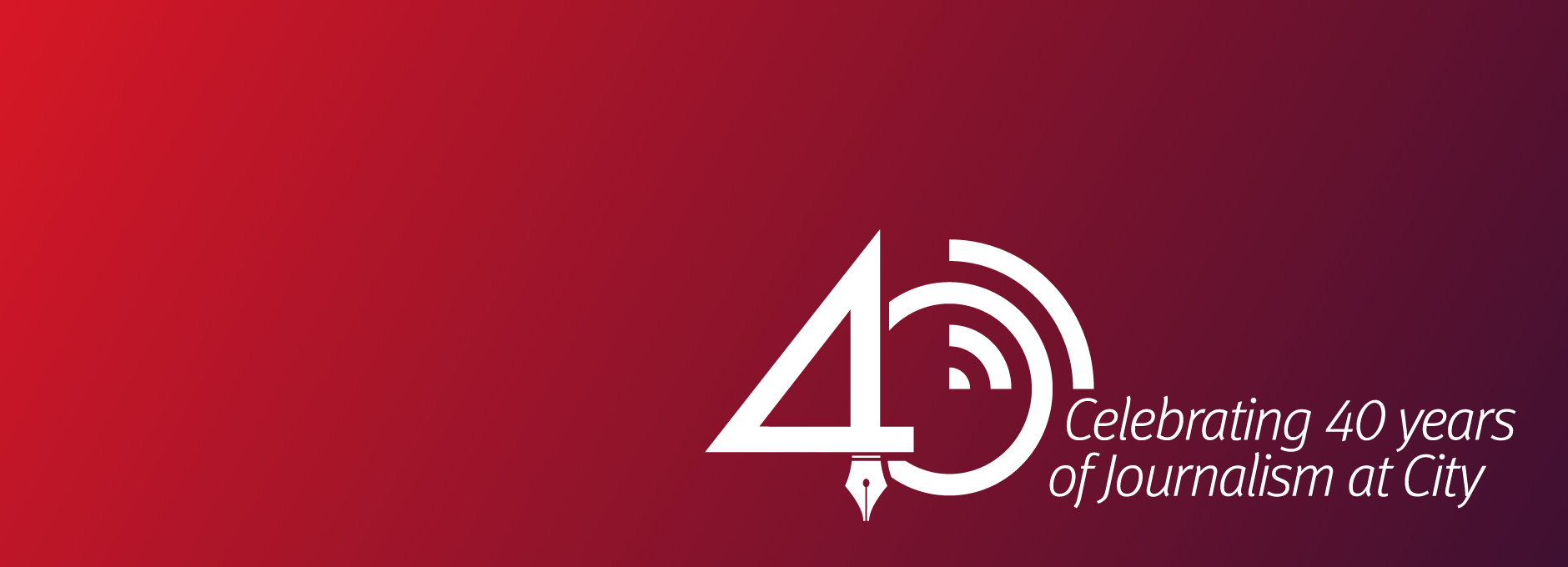Journalism 40th Year logo